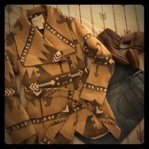 American Rag Aztec tribal print jacket size medium